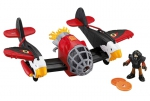 FISHER PRICE - IMAGINEXT - Samolot Twin Eagle T5122 + DVD