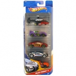 Hot Wheels Samochodziki 5 pack - Police Pursuit 5 W4243